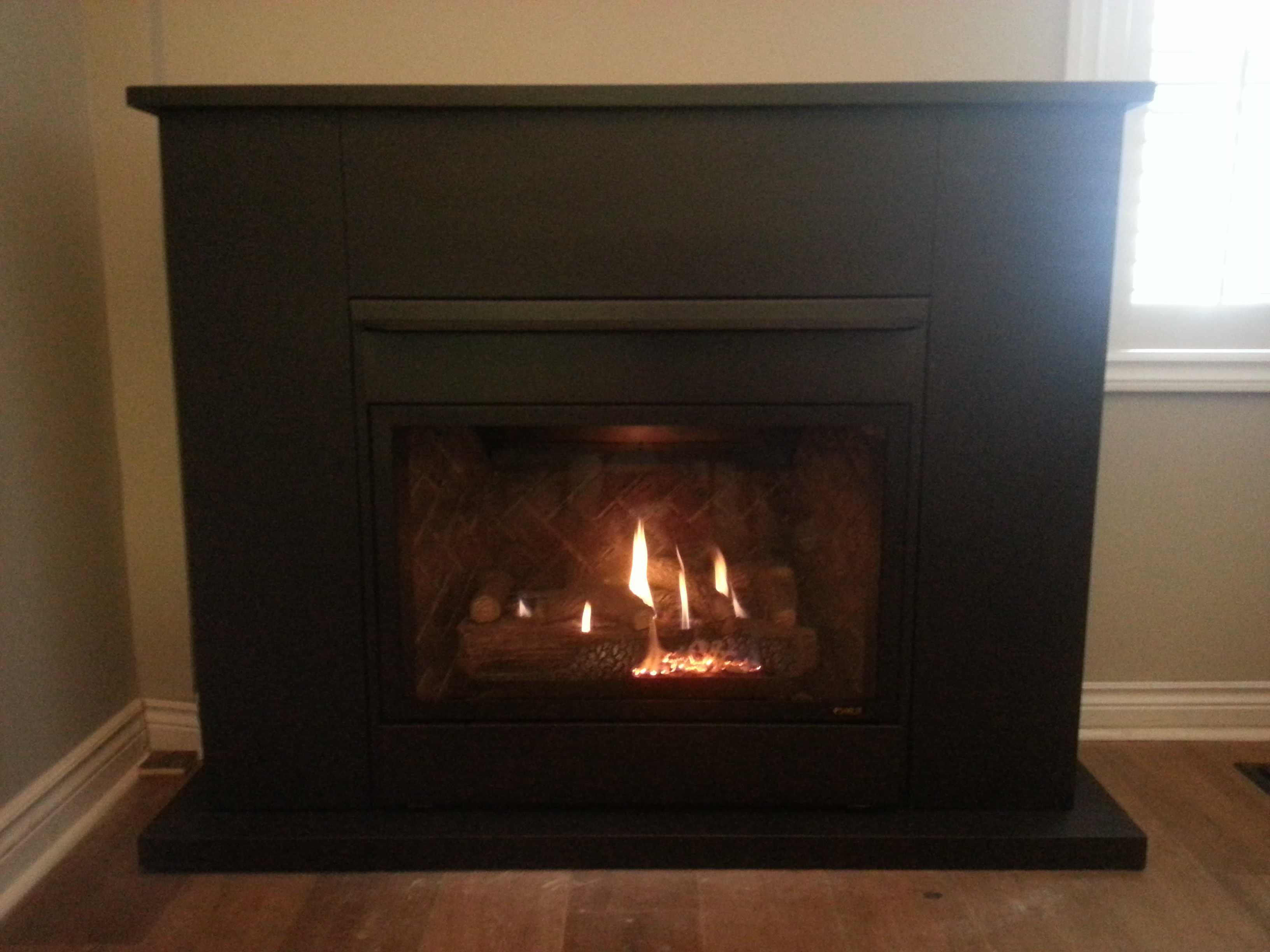 insert corner on gas for installed magnificent valor in fireplace legend