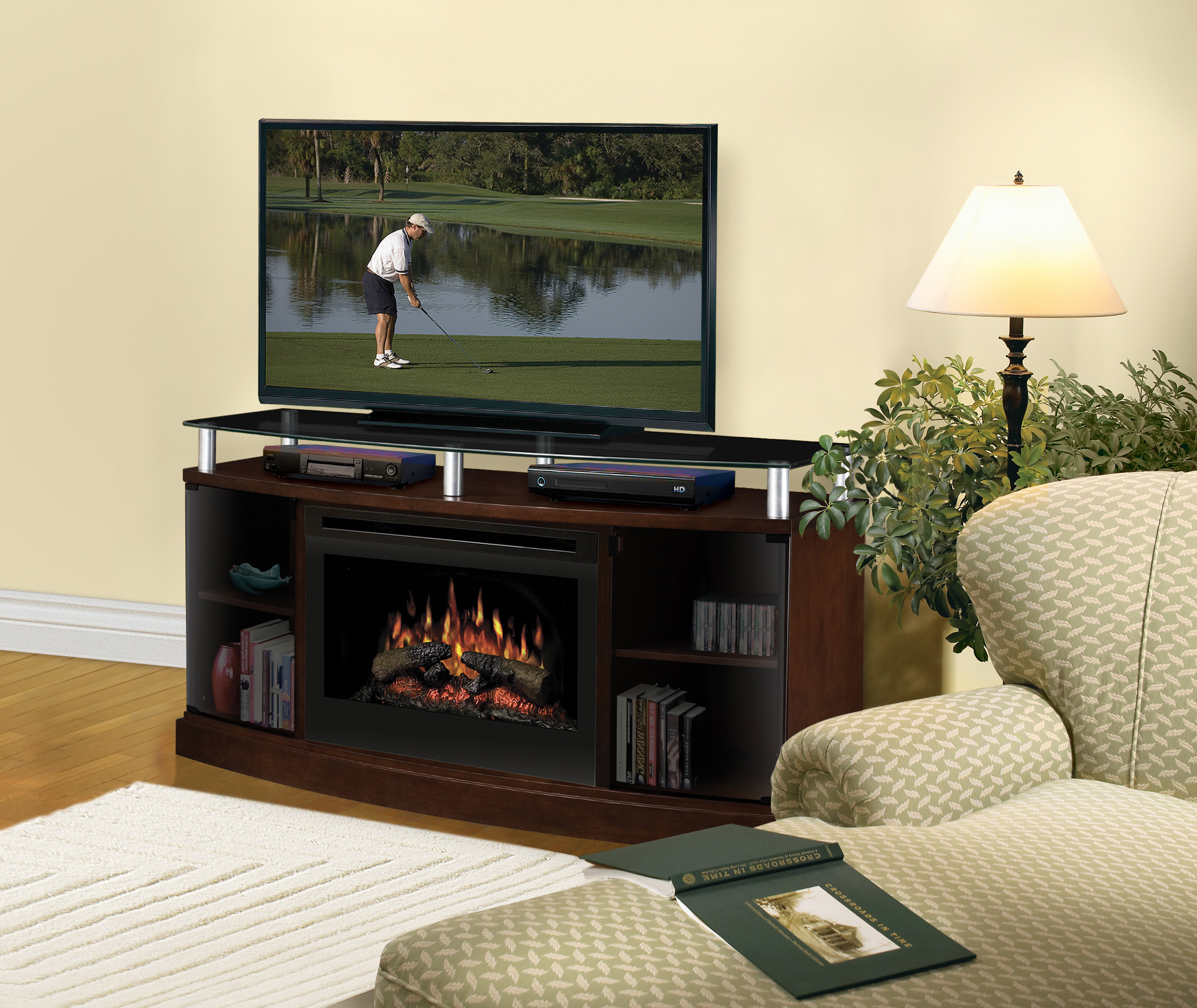 tv parsons console ip dorel en black electric fireplace walmart canada