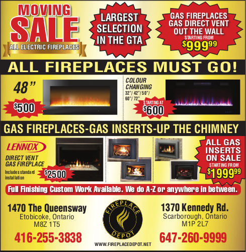 fireplace moving sale