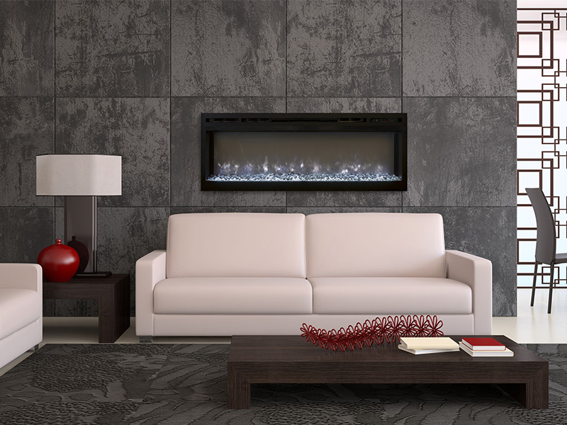 modern flames wall mount electric fireplace